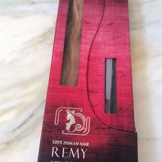 100% real hair clip on extensions