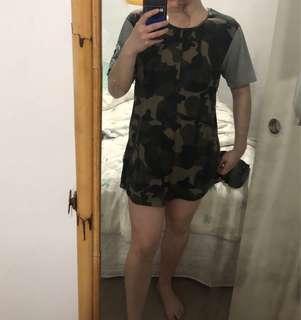 Ilabb oversized camo tee dress