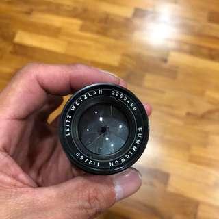 Leica Summicron 50mm f2 Black (#9458)
