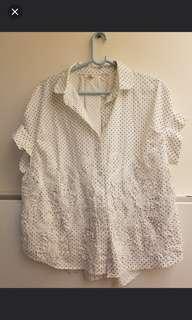 Korea shirt top 韓立體車花 3D恤衫