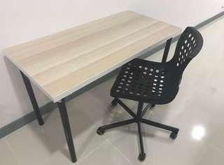 Ikea brand new condition take and chair. Used twice only