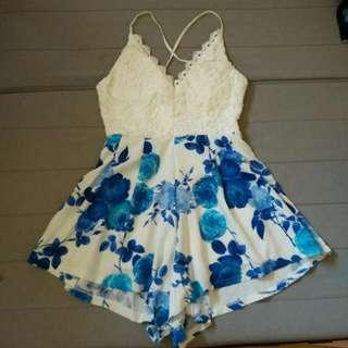 Laced Floral Dress