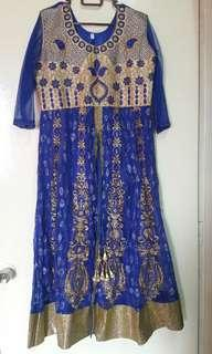 Grand Punjabi Suit (Royal blue)