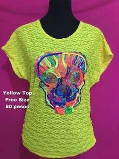 Yellow Skull Top