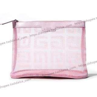 Idalza* 專櫃 香水 贈品 粉色 網紗 立體 化妝包 收納包 旅行 洗漱包 手拿包 大容量