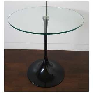 Round Glass Top Side Table B