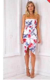 White floral dress maxi BNWT