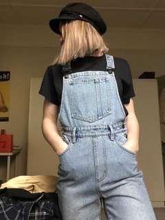 MINKPINK pale blue overalls romper size XS 6