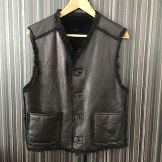Gay Giano Real Leather Vest Size : 46 90% New