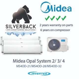 🚚 Midea Opal Air-conditioner (4 ticks) System 2/3/4 (installation included
