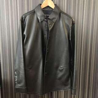 Emporio Armani 混合皮革外套 修身剪裁 Size : 46 90% New