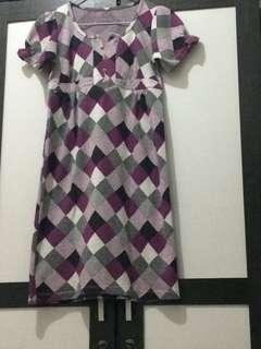 TERMURAH + ONGKIR!! Dress Ungu