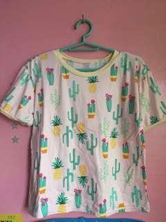 Cactus Semi-Crop top