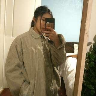 Authentic vintage corduroy oversized jacket