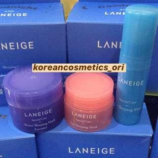 [ORI] LANEIGE Sleeping Care Good Night Kit 3 Items COD JNE