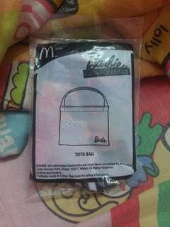 McD toy Barbie Fashionistas series tote bag #3x100
