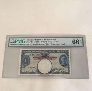 ( Clearing ) 1st July 1941 king George $1 unc