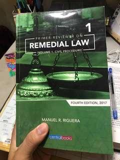 Riguera Remedial Law Vol. 1