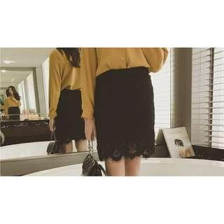 Maternity Lace Office Skirt