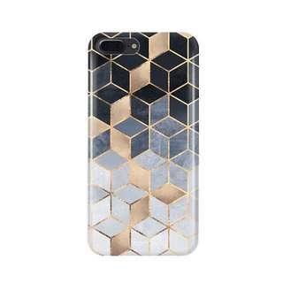 iPhone 8 Plus Geometric Print Casing & Tempered Glass