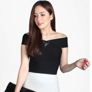 Catwalkclose Fayth Agyness Cropped Top in black