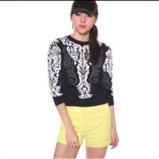 Lb Love Bonito Aviana Graphic sweater In Grey