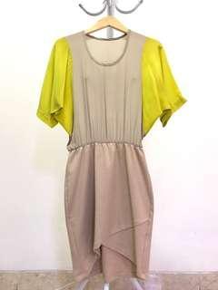 Nude neon dress