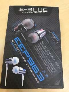 BN Authentic Eblue stereo in-ear earphones