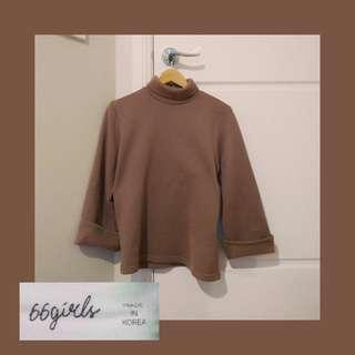 Korean branded bell sleeve knit jumper