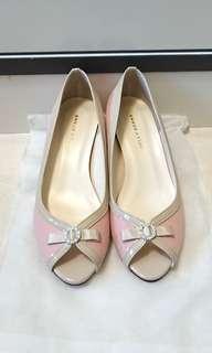 日本製Jellybeans粉紅閃石露趾鞋