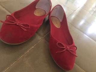 Noche red flatshoes