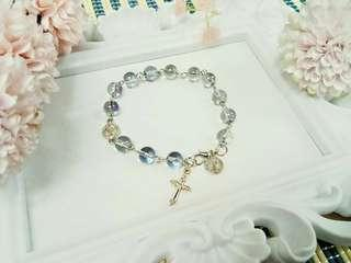 13 Beaded Handcrafted Rosary bracelet   Handcrafted rosary are  perfect for gifts and souvenirs for birthdays,  weddings,  christening,  christmas and anniversaries 🎁🎈🎄.  P120