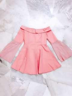 Pink Off Shoulder Dress #Midsep50