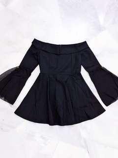 Black Off Shoulder Dress #Midsep50