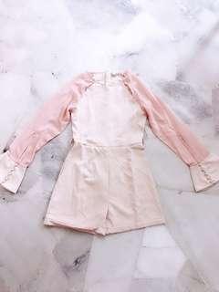 Nude Pink Romper / Jumpsuit #Midsep50