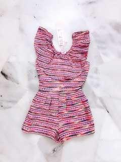 Pink Off Shoulder Romper / Jumpsuit #Midsep50