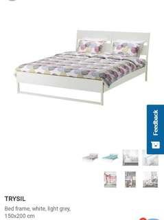 Ikea Trysil Queen bed in white