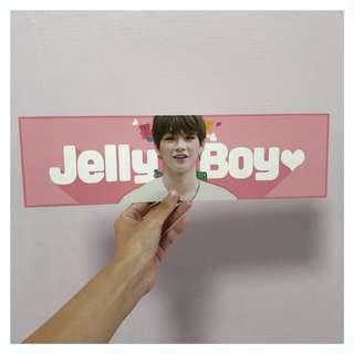 wanna one | kang daniel pink mini banner
