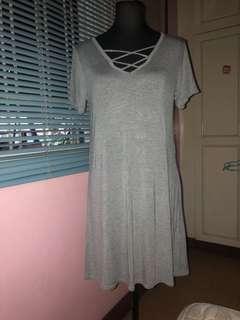Gray Cross Dress
