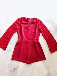 Maroon Red Romper / Jumpsuit #Midsep50