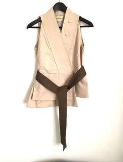 Maryalle Brown Belted Vest