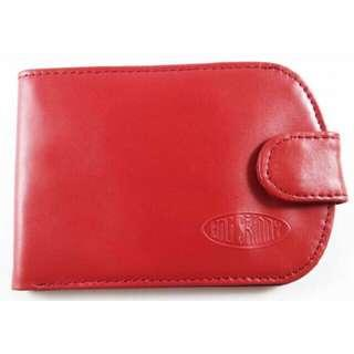 BIG SKINNY LEATHER TAXICAT RED BIFOLD WALLET