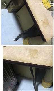 Rare antique laminate dining table