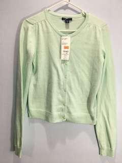 Light green cardigan