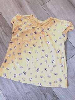 女童黃色短袖上衣