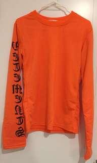 Orange Ling Sleeves Top Small