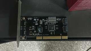 🚚 送咖啡 登昌恆 UPTECH SATA 2 PORT 硬碟擴充卡 PCI RAID1 良品 非 RAID5 NAS