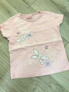 女童粉紅色短袖上衣 T Shirt