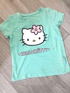 女童綠色Hello Kitty Tee