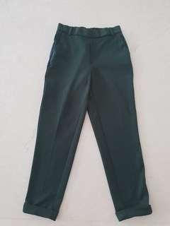 Pre loved zara dark green long pants size XS